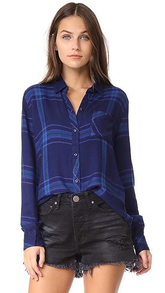 RAILS Hunter Button Down Shirt - Twilight/Jade