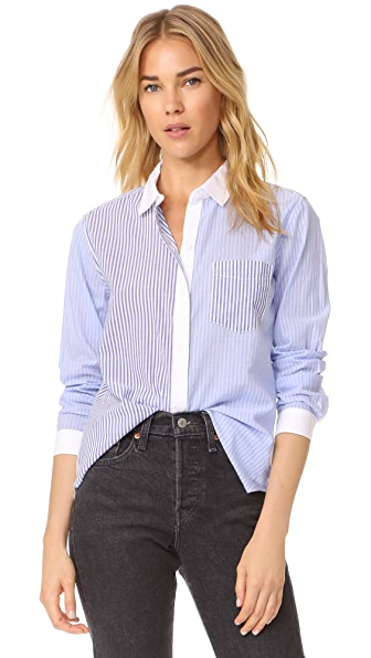 RAILS Emory Button Down Shirt In Mixed Stripe
