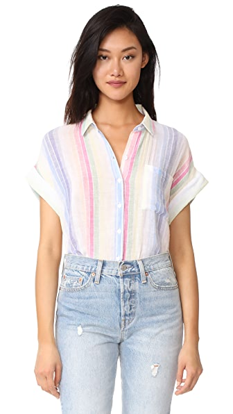 RAILS Whitney Button Down - Rainbow Stripe