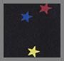 Rainbow Stars on Black