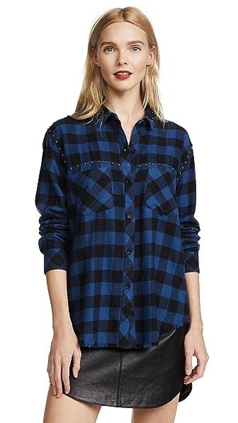 RAILS Rex Shirt In Blue/Black Check
