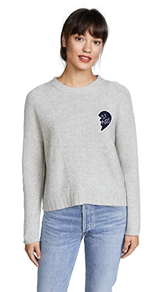 RAILS Joanna Friends Sweater In Heather Grey