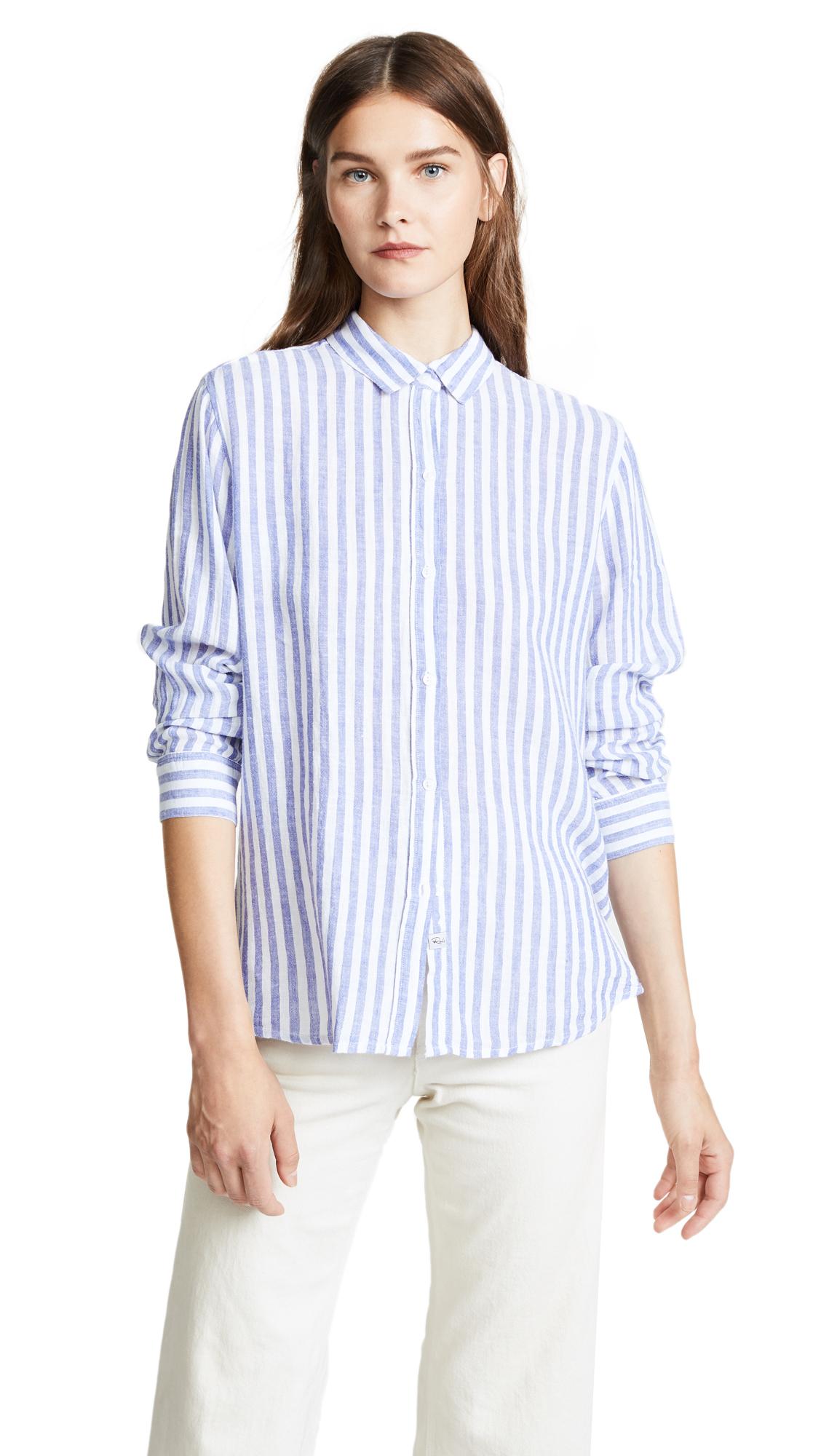RAILS Sydney Button Down Shirt In Boracay Stripe