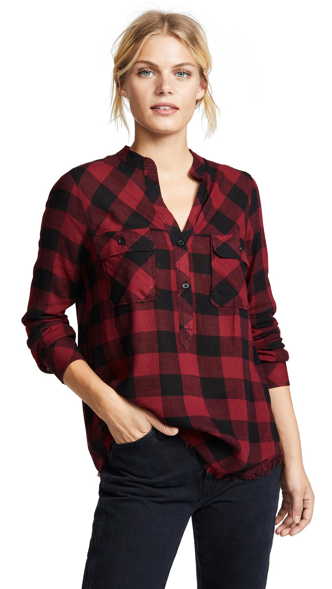 RAILS Redding Button Down Shirt In Sanguine Black