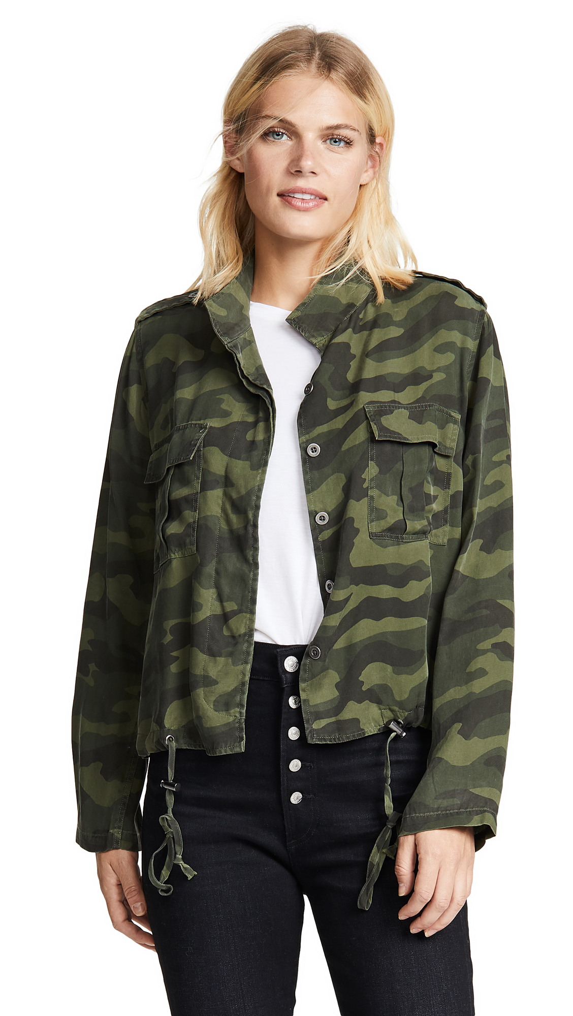 RAILS Rowen Camo Jacket In Forest Camo Print
