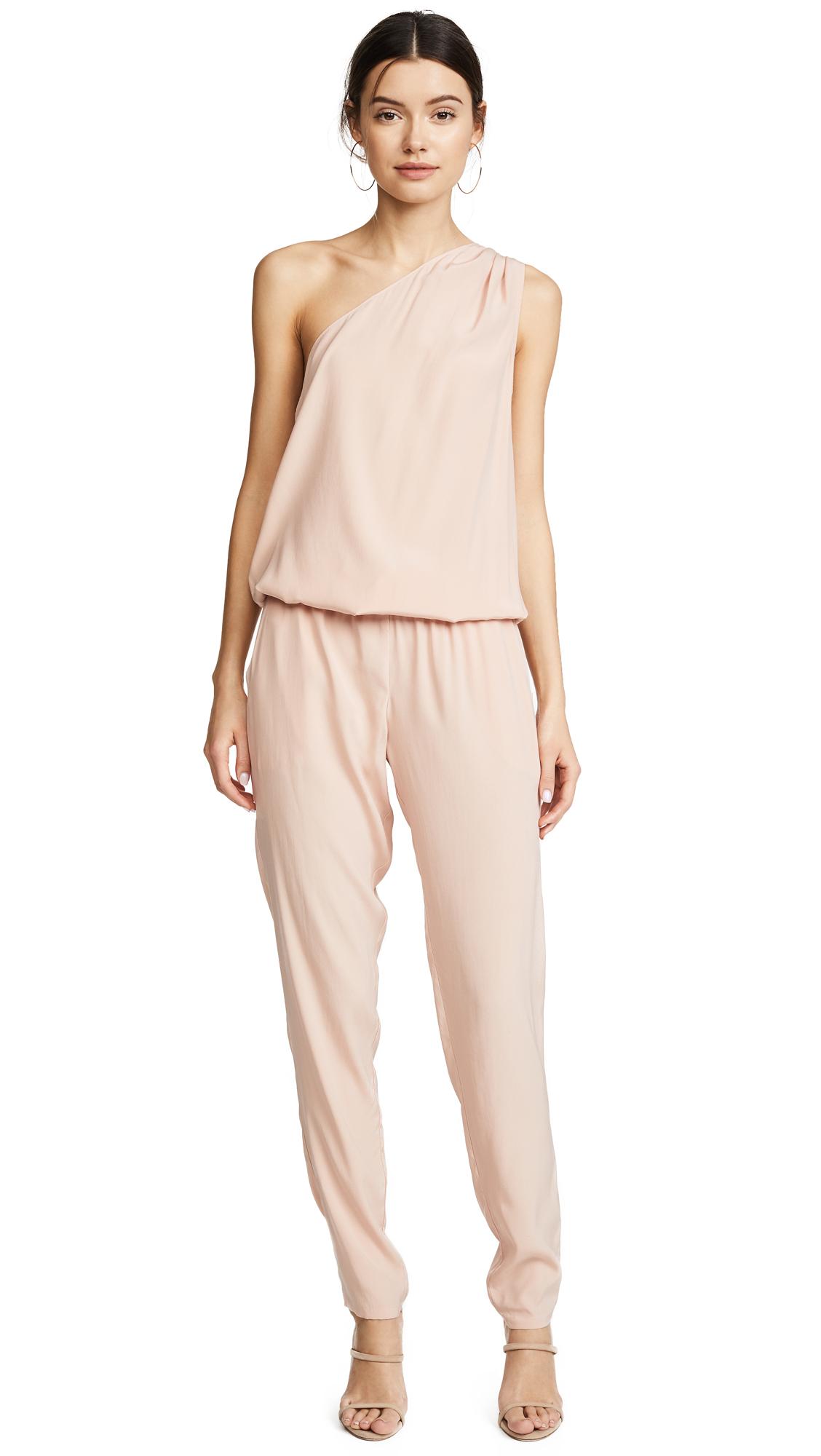 Ramy Brook Lulu One Shoulder Jumpsuit - Blush