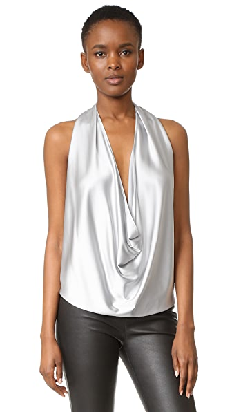 Ramy Brook Harriet Halter Top - Silver