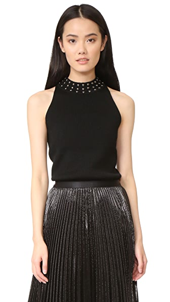 Ramy Brook Valery Studded Ribbed Sweater