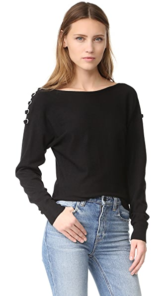 Ramy Brook Debra Lace Up Sweater