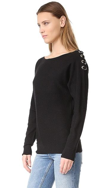 Ramy Brook Debra Lace Up Sweater