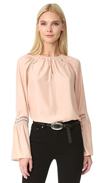 Ramy Brook Astrid Wave Trim Blouse