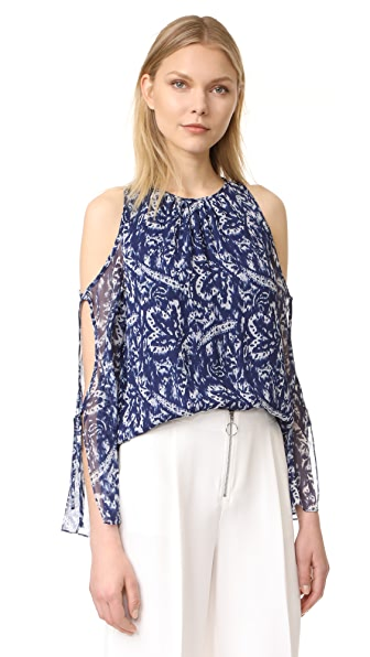 Ramy Brook Brush Stroke Printed Norma Blouse