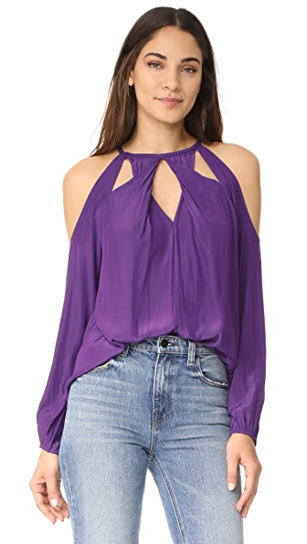 Ramy Brook Amanda Blouse - Purple Iris