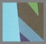 Turquoise/Ivory Multi
