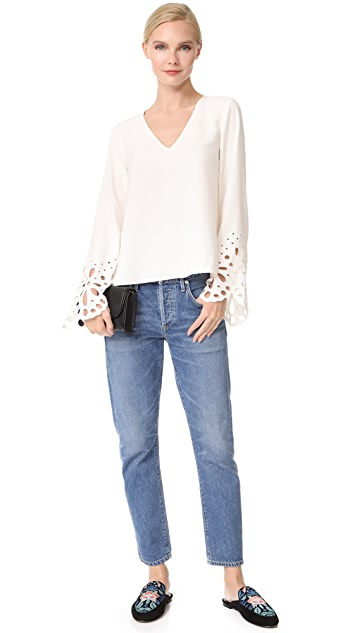Ramy Brook Remi Embroidered Blouse