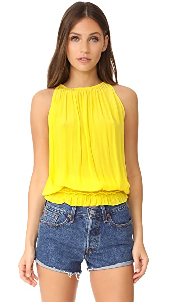 Ramy Brook Sleeveless Lauren Blouse - Lemon Zest