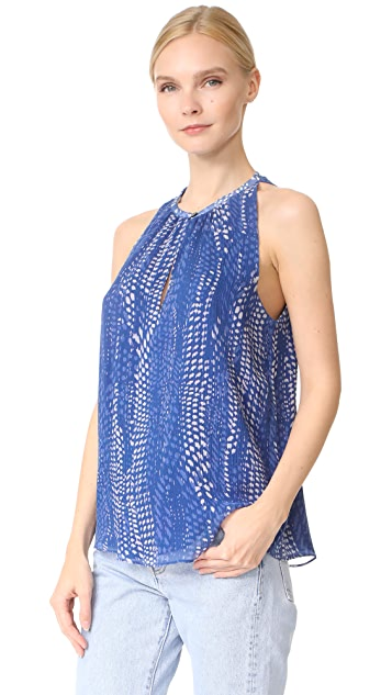 Ramy Brook Ibiza Dot Print Piper Top