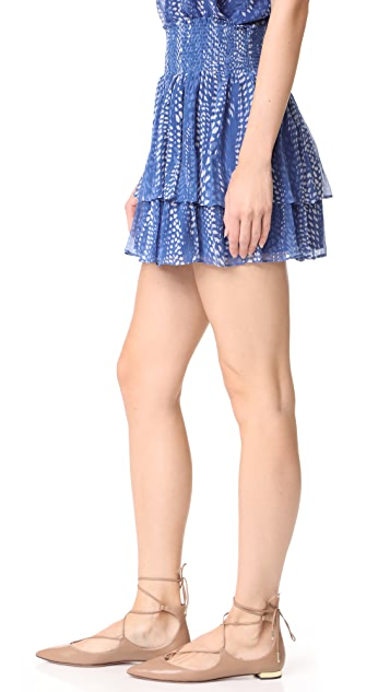 Ramy Brook Ibiza Dot Printed Annabelle Skirt