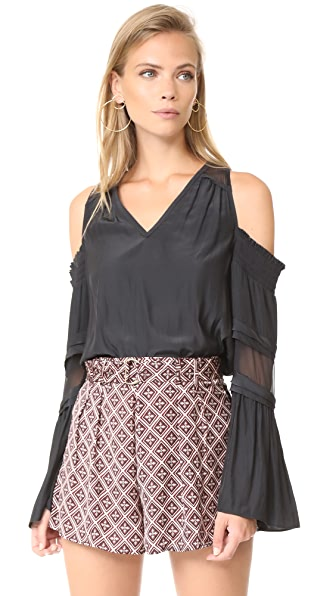 Ramy Brook Faretta Blouse - Black