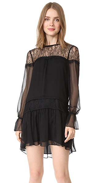 Ramy Brook Watson Dress In Black With Lace