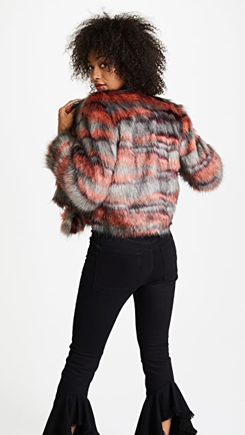 Ramy Brook Camo Faux Fur Krissy Jacket