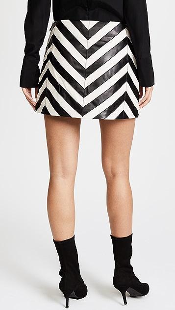 Ramy Brook Kaitlynn Leather Skirt