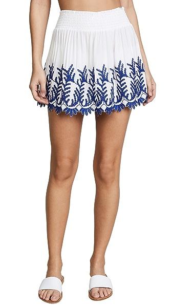 Ramy Brook Junia Skirt In White/Blue