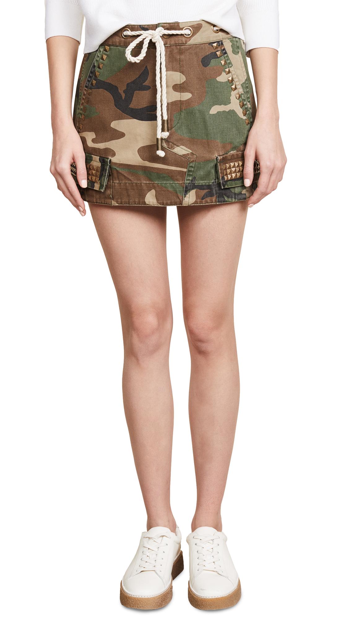 Ramy Brook Aspen Skirt In Olive Combo