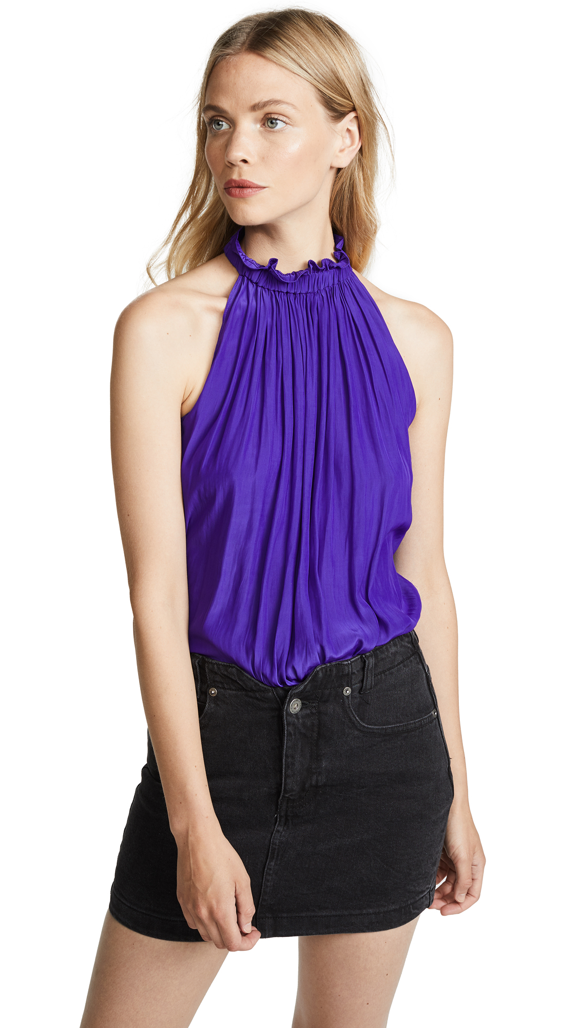 Ramy Brook Selena Top In Royal Purple
