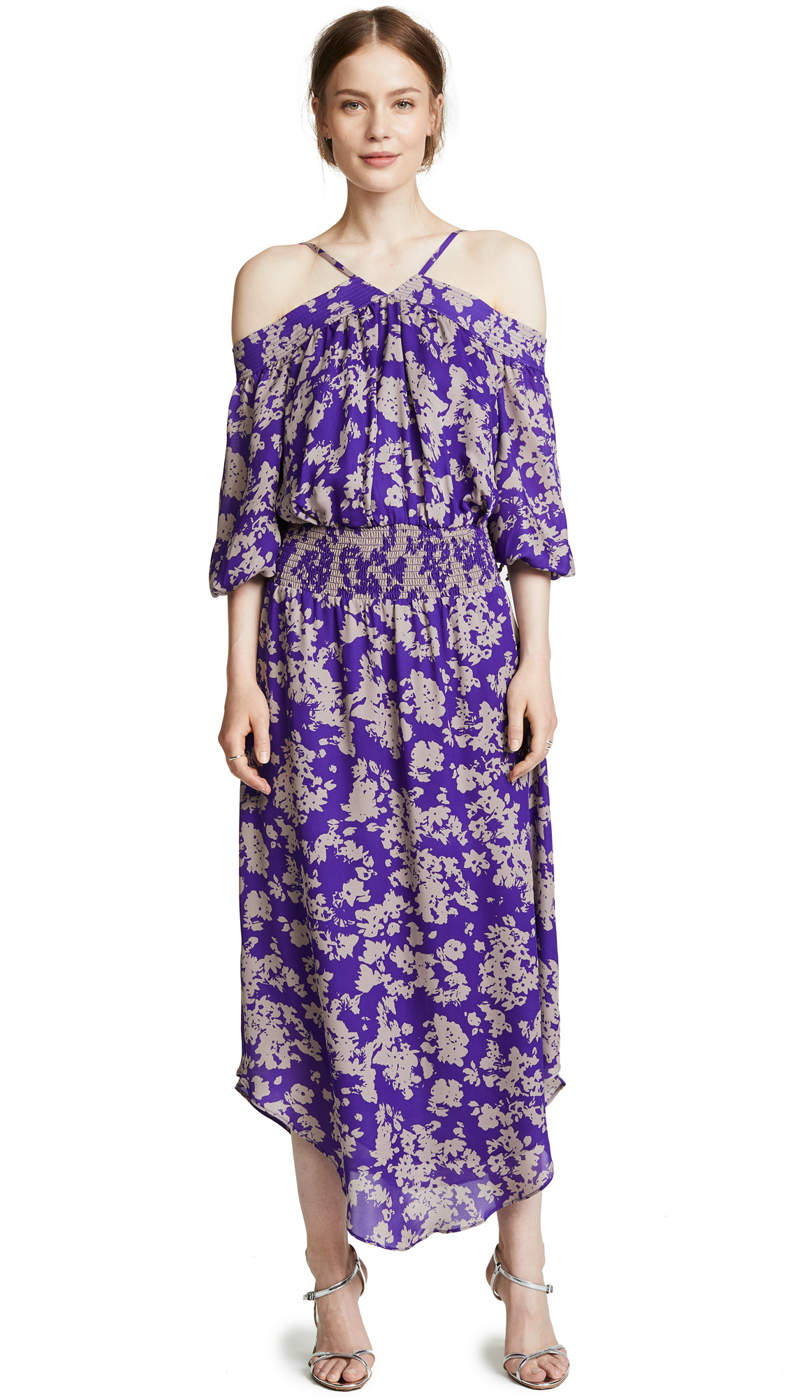 Ramy Brook Manuela Dress In Royal Purple Combo