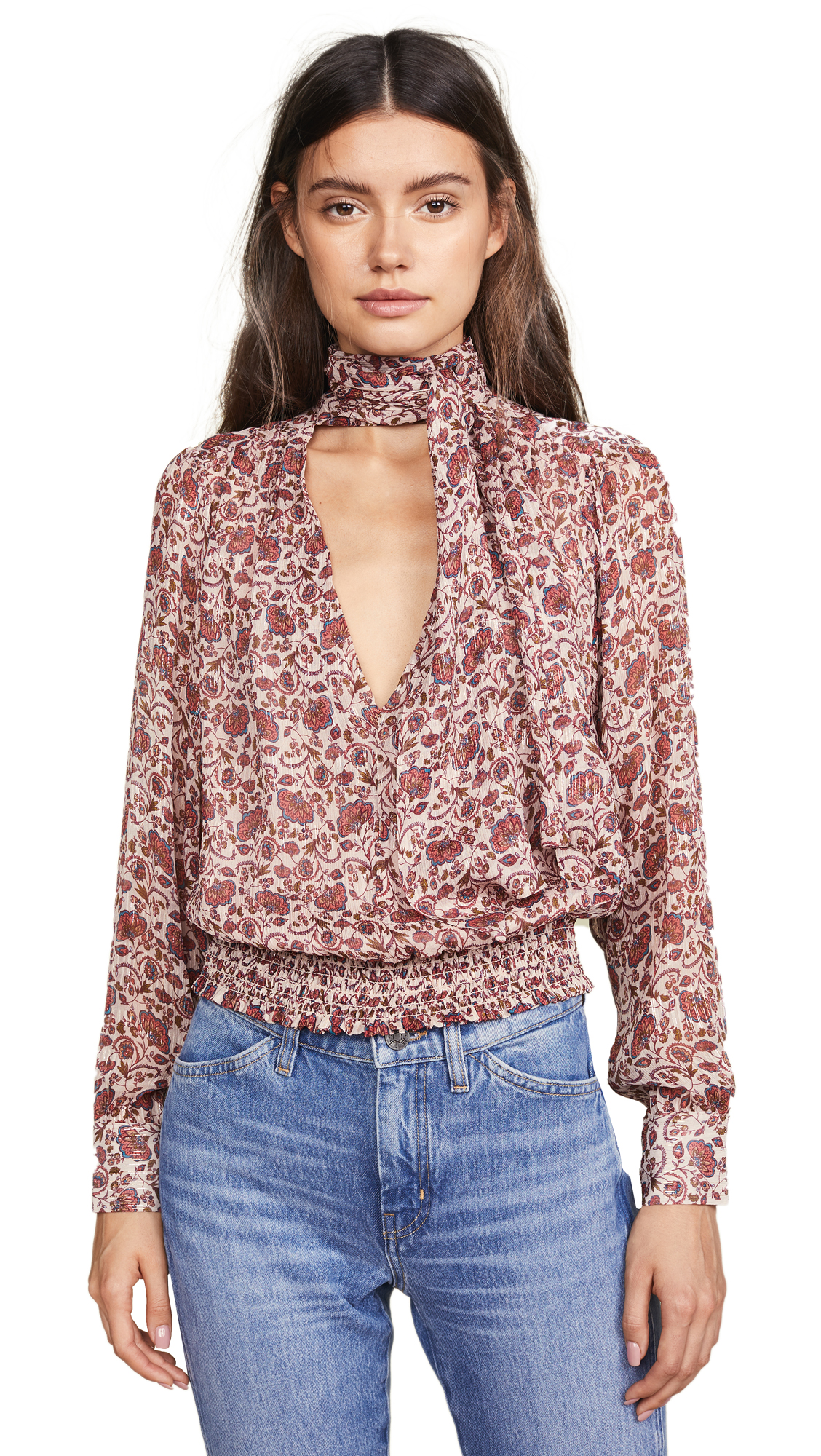 Ramy Brook Printed Winslow Top In Blush Combo