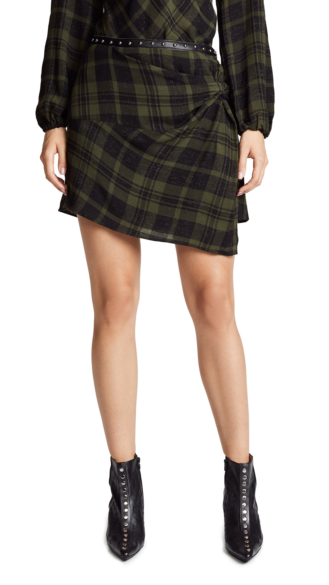 Ramy Brook Dana Skirt In Urban Green