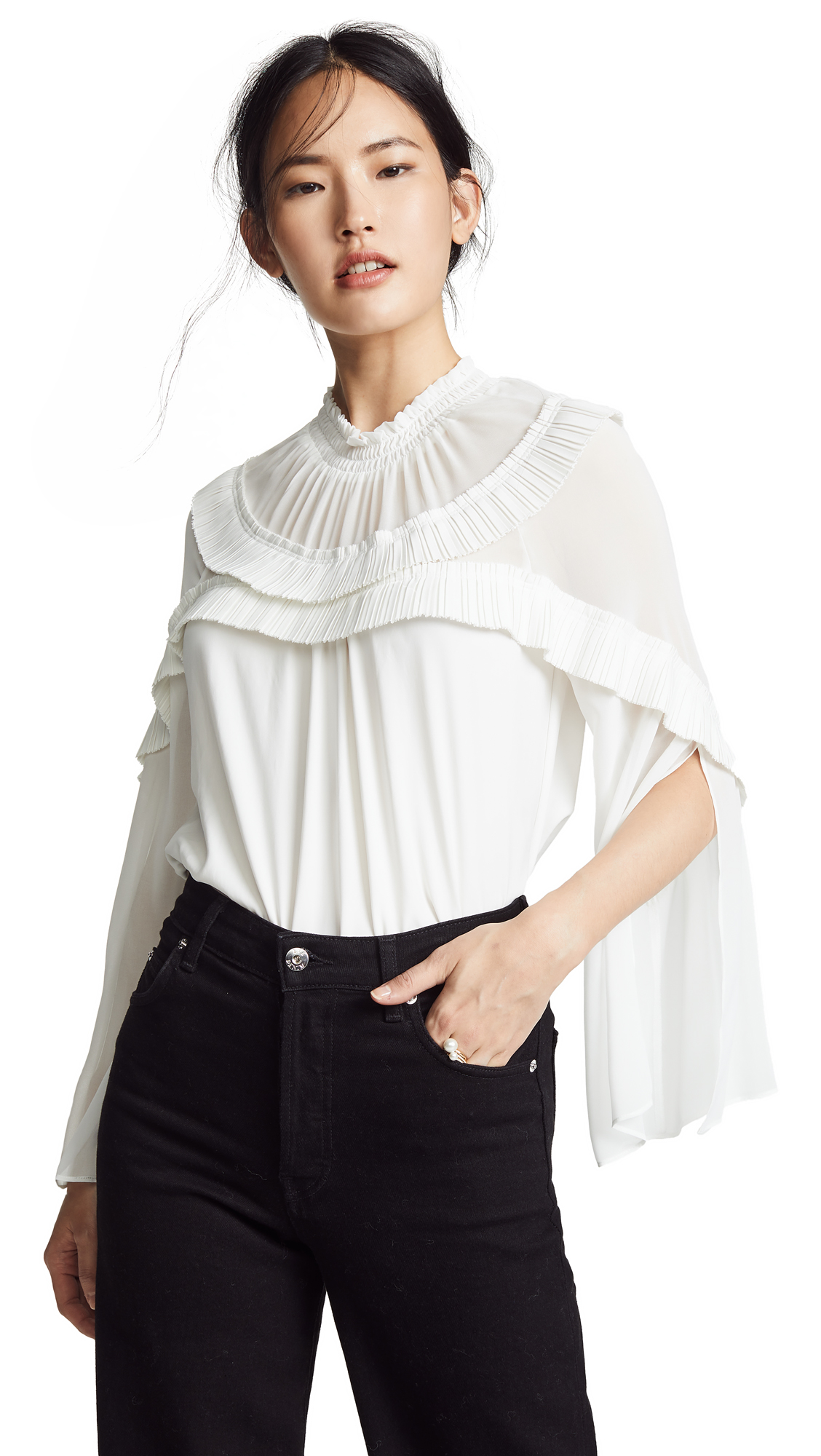 Ramy Brook Blake Top In Ivory