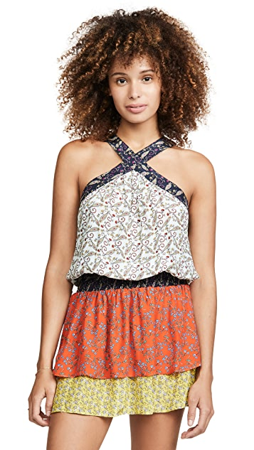Ramy Brook Printed Crystal Dress