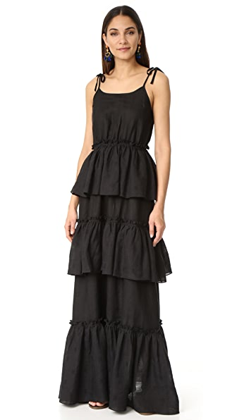 Rachel Antonoff Valentine Tiered Ruffle Maxi Dress | 15% off first ...