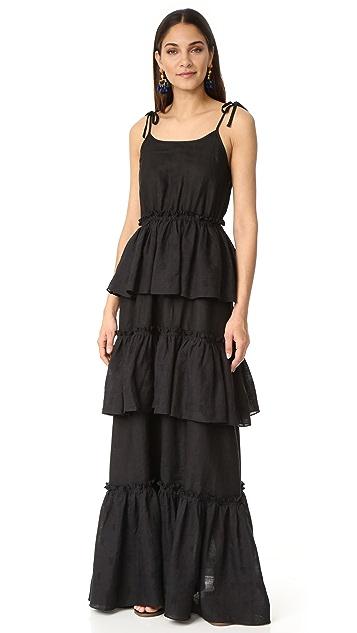 Rachel Antonoff Valentine Tiered Ruffle Maxi Dress