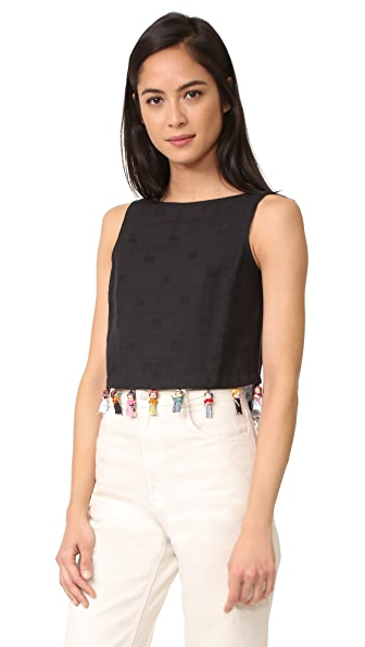 Rachel Antonoff Kishi Worry Dolly Crop Top