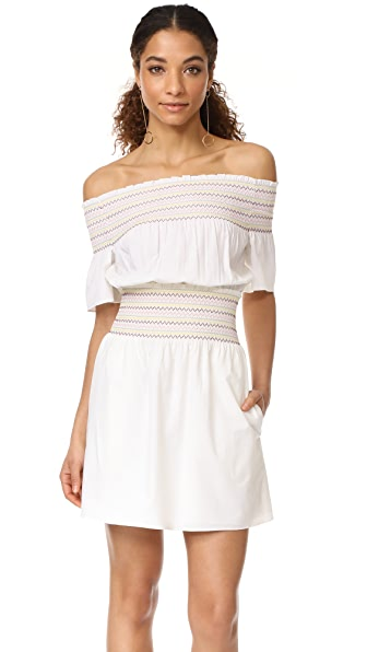 Logan Smocked Off Shoulder Dress