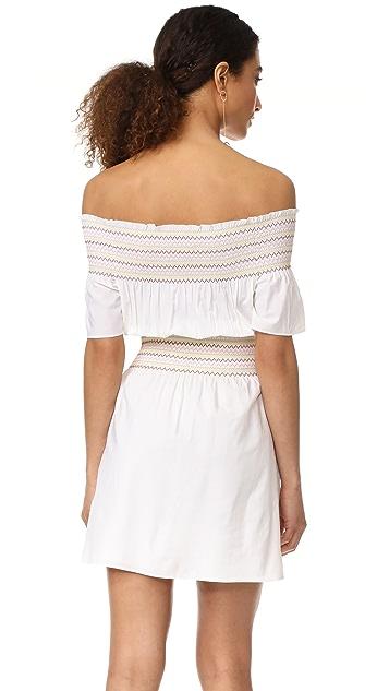 Rachel Antonoff Logan Smocked Off Shoulder Dress