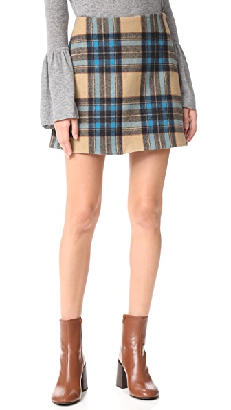 Rachel Antonoff Richard Plaid Mini Skirt