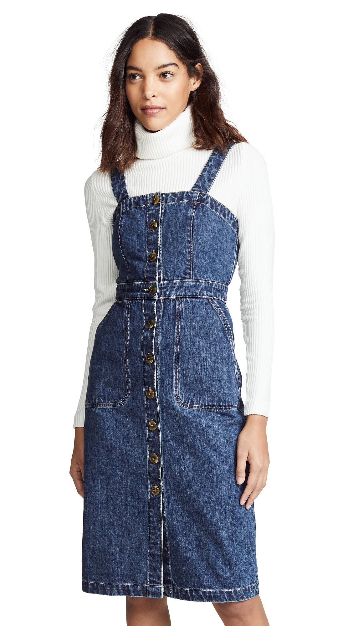 Rachel Antonoff Barbie Apron Dress - Indigo Wash