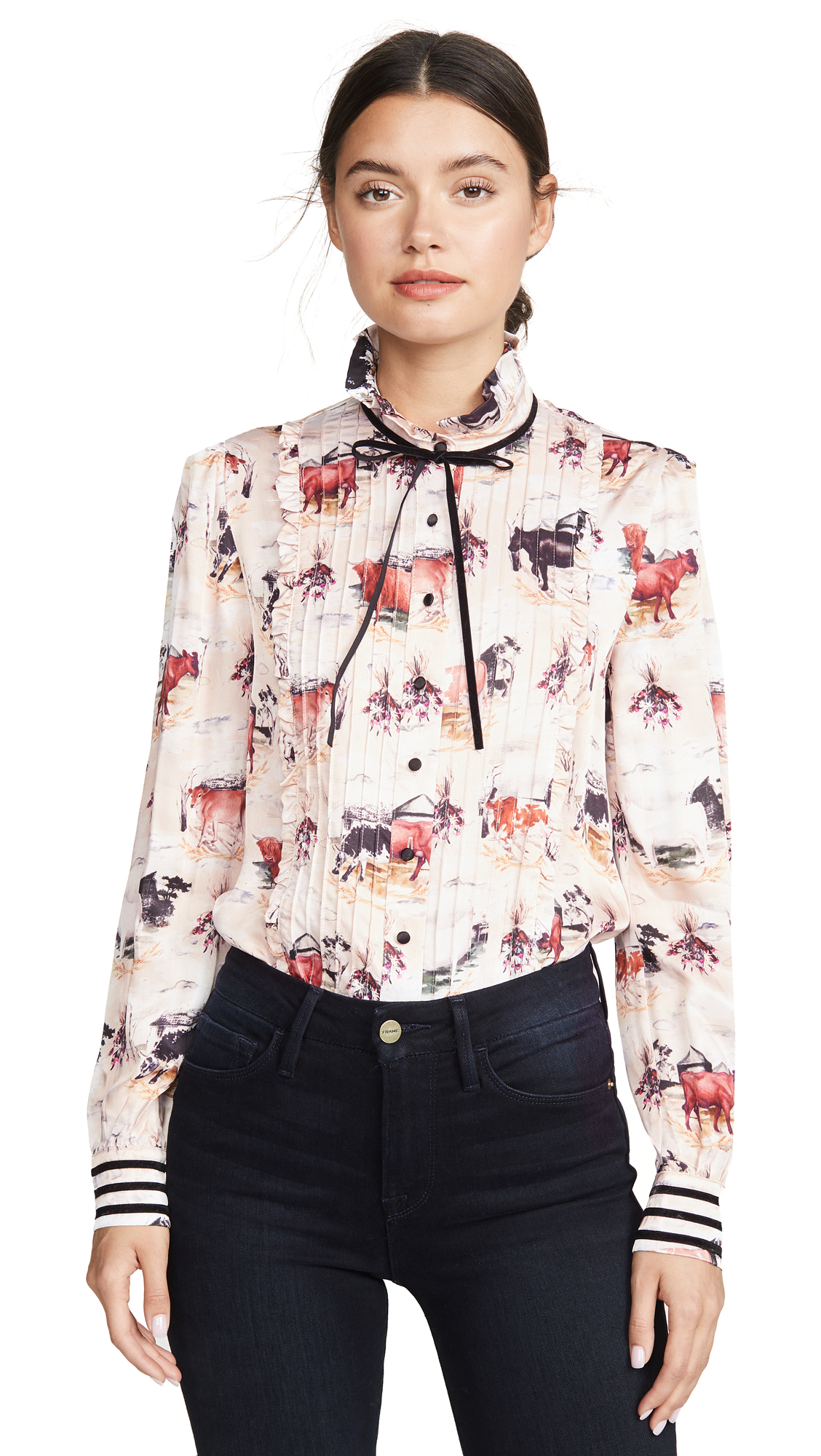 Buy Rachel Antonoff online - photo of Rachel Antonoff Louise Puff Sleeve Pintuck Top