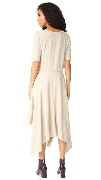 Raquel Allegra Handkerchief Crepe Maxi Dress