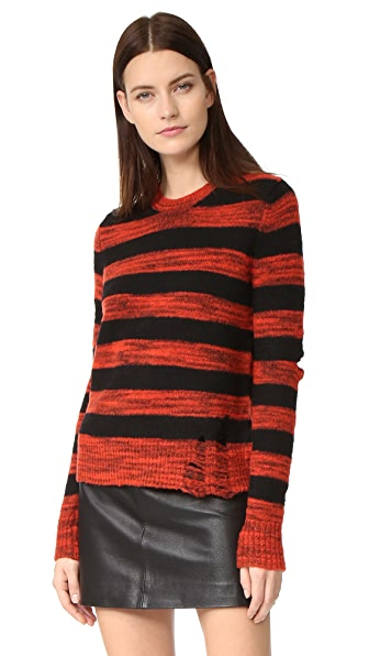 Raquel Allegra Slit Elbow Crew Sweater