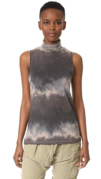 Raquel Allegra Sleeveless Turtleneck - Dusty Clay