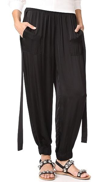 Raquel Allegra Deconstructed Tuxedo Pants In Black