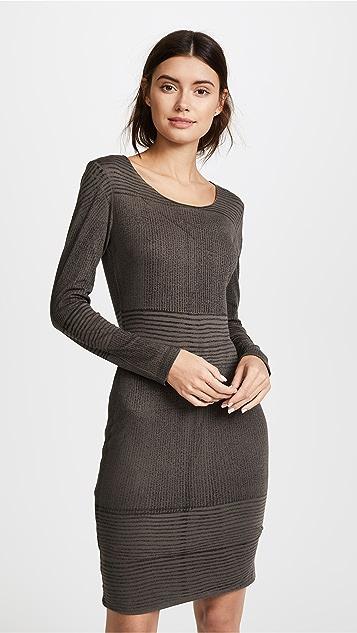 Raquel Allegra Long Sleeve Fitted Dress