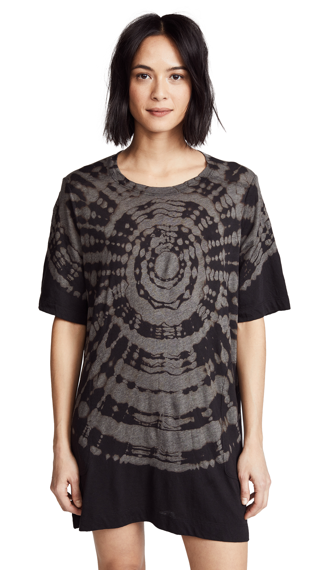 Raquel Allegra T-Shirt Dress In Onyx Tie Dye