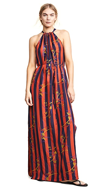 Raquel Allegra Floral Stripe Dress