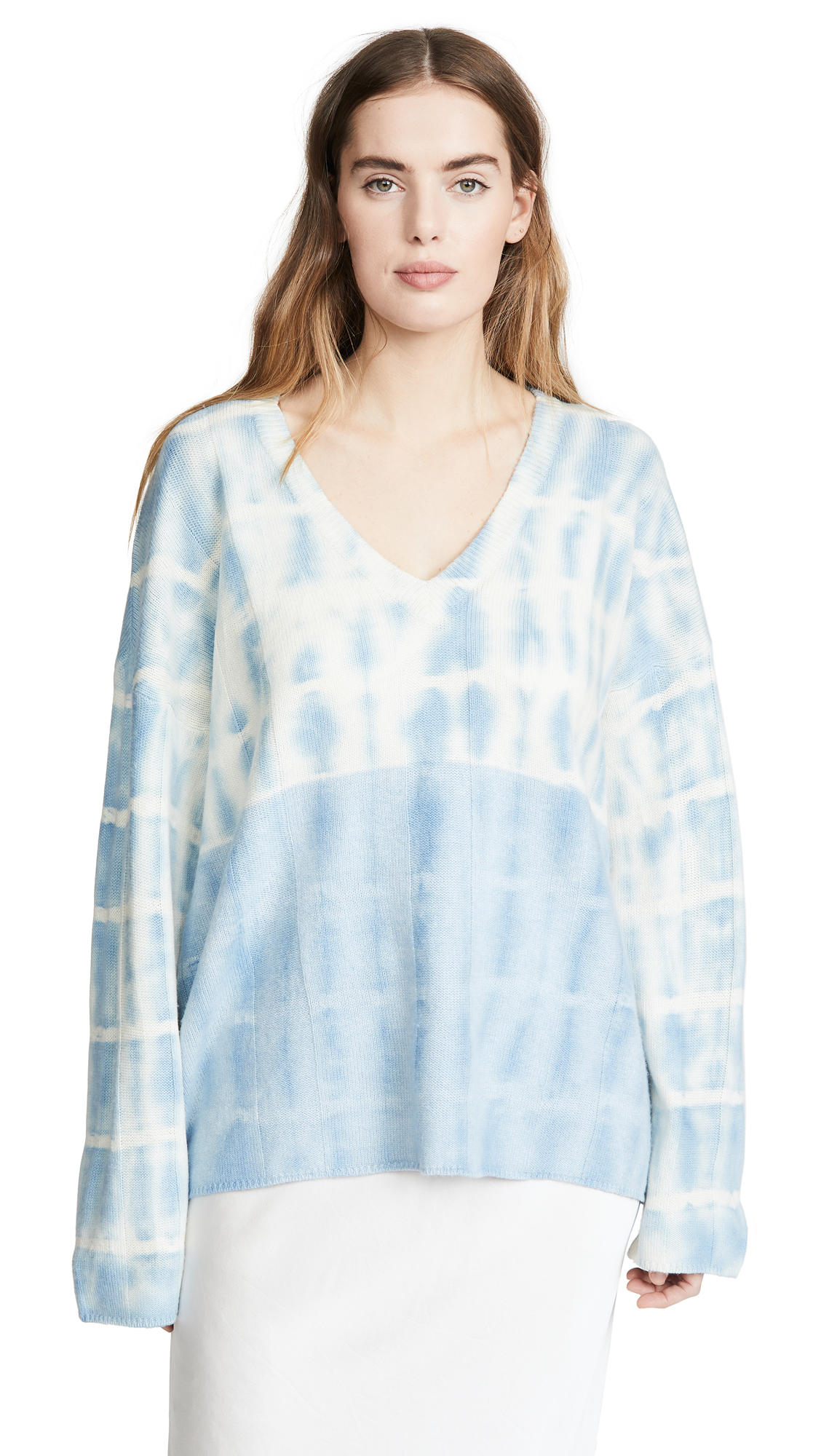 Buy Raquel Allegra online - photo of Raquel Allegra Boxy V Neck Sweater